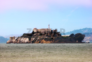 Alcatraz Island and Prison in San Francisco Bay