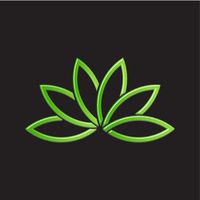 Green Lotus Plant Image Vector Illustration