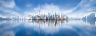 modern city skyline ,shanghai pudong, China.