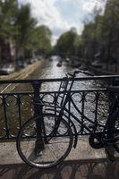 Fahrrad in Amsterdam im Sommer