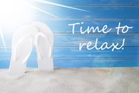 Sunny Summer Background, Text Time To Relax
