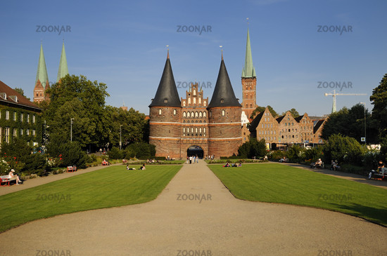 Luebeck, Germany, Historic Holstentor