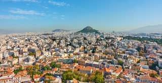 Panoramic view of Athens city