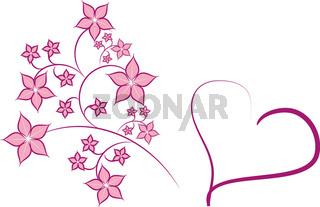 Karte Pink rosa
