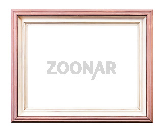 pink and white painted wooden picture frame