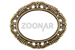 Filigree in the form of a frame, decorative element for manual work, isolated on white, with clipping path