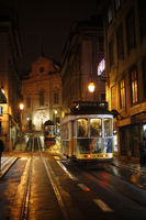 Lisbon with the tram 28 trough the night
