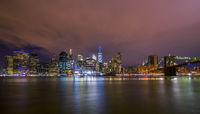 Downtown Manhatten Skyline at Night