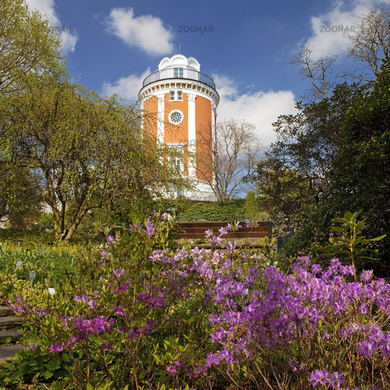 botanical garden and Elise Tower, Wuppertal, Bergisches Land, North Rhine-Westphalia, Germany