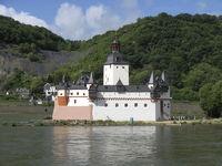 castle Pfalz Kaub at the river Rhine, Germany