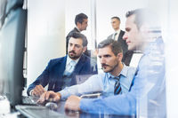 Business team working in corporate office.