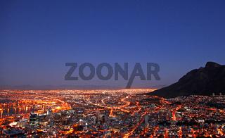 Kapstadt bei Nacht, Südafrika, Cape Town at night, South Africa