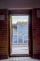 View thru the door to the street of Khiva