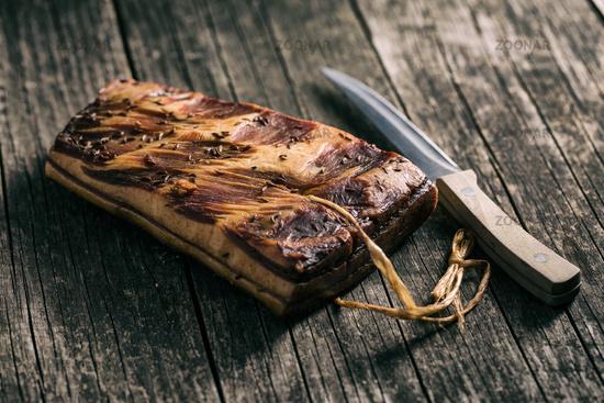 fresh smooked bacon