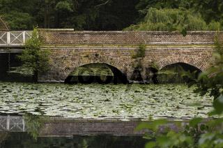 Steinbrücke zum Wasserschloss Senden, Münsterland, NRW