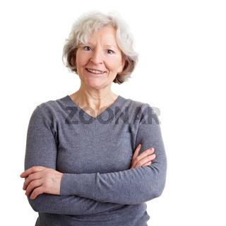 Selbstsichere Seniorin