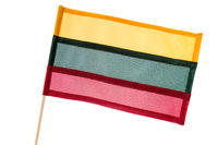 Lithuania flag isolated on white