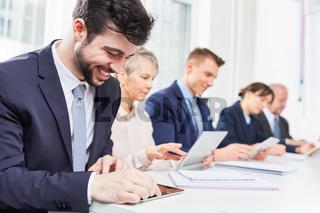 Geschäftsmann im Business Seminar