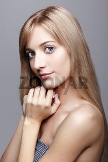 Beautiful blonde female