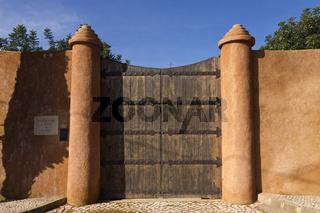 Holztor Castelo de S Joao Do Arade in Ferragudo