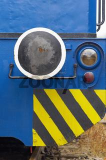 Detail einer Rangierlokomotive