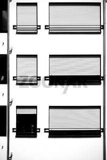 Moderne Appartementfenster