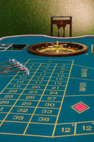 Roulette table in the casino