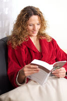 Cute Woman reading a book