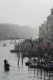 Italien venedig Winter Nebel Kanal