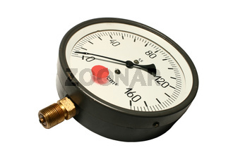 Manometer. Close-up. Isolated on a white background.