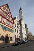 Half-Timbering houses in Rothenburg ob der Tauber, Germany