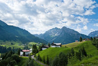 A small village in the austrian alps at the Kleinw
