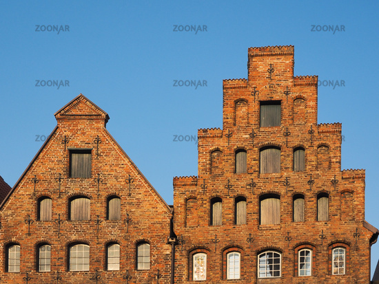 Gables of the salt storages of Luebeck, Germany