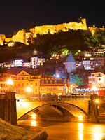 Tbilisi Old Town at night