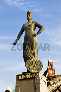 Statue der Hammonia in Hamburg