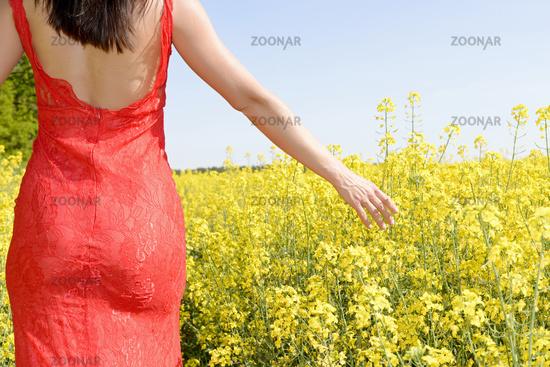 woman  in the rape field