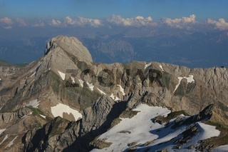 Mount Altmann on a summer day. View from Mount Santis.
