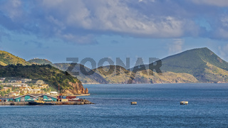 Hills Near The Harbour, Basseterre,  St. Kitts, West Indies
