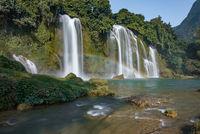 Ban Gioc Waterfall - Detian waterfall Ban Gioc Waterfall is the most magnificent waterfall