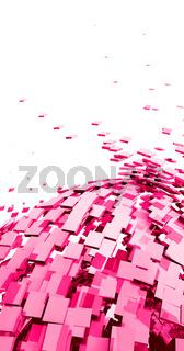 Fliegende Würfel Pink