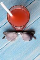 drink on beach table