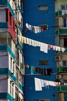 Clothesline between two houses in Batumi, Georgia