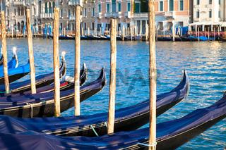 Venice, Gondolas detail