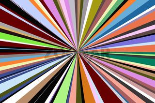 Zentriertes farbiges Streifenmuster