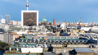 above view of Berlin city from Reichstag