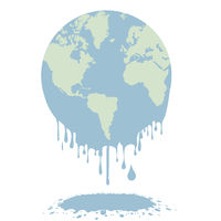 melting earth globe