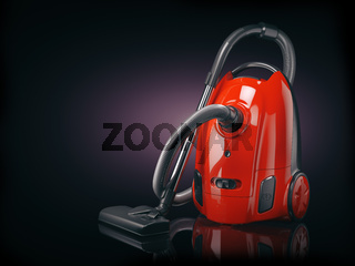 Vacuum cleaner isolated on  black background.