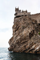 Swallow's Nest Castle on Aurora Cliff in evening