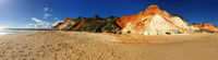 A Wide sandy beach in the Algarve, Portugal