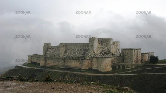 View to Krak des Chevaliers Castle